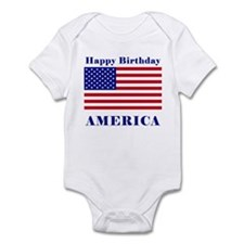 Happy Birthday America Infant Bodysuit