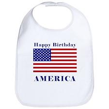Happy Birthday America Bib