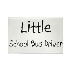 Little School Bus Driver Rectangle Magnet