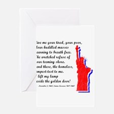 Unique Usa flag statue of liberty Greeting Card