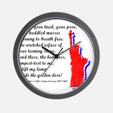 Funny Statue of liberty statue Wall Clock