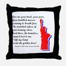Funny America flag Throw Pillow