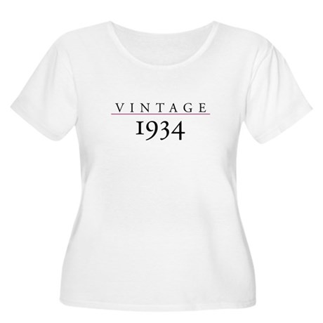 Vintage 1934 Women's Plus Size Scoop Neck T-Shirt