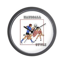 Handball players Wall Clock