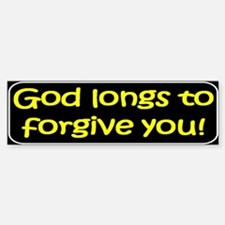 Christian saying God longs Bumper Bumper Bumper Sticker