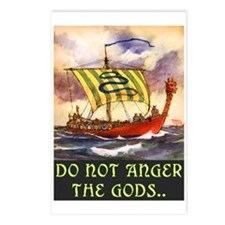 DO NOT ANGER THE GODS Postcards (Package of 8)
