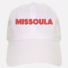 Retro Missoula (Red) Baseball Baseball Cap