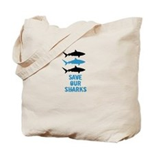 Cute Sharks Tote Bag