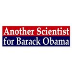 Another Scientist for Obama Bumper Sticker