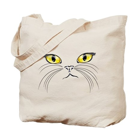Kitty Face Tote Bag