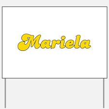 Retro Mariela (Gold) Yard Sign