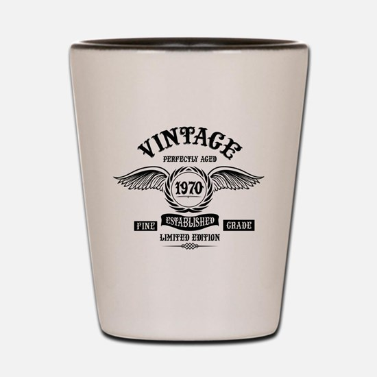 Vintage Perfectly Aged 1970 Shot Glass