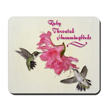 Ruby Throated Hummingbirds Mousepad