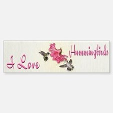 Ruby Throated Hummingbirds Bumper Bumper Bumper Sticker