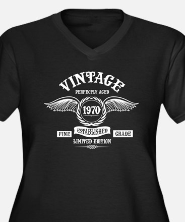 Vintage Perfectly Aged 1970 Plus Size T-Shirt