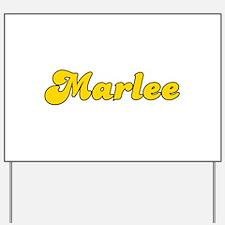 Retro Marlee (Gold) Yard Sign