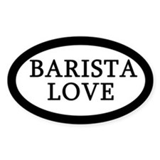 Barista Love Coffee Shop Tip Jar Decal