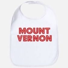 Retro Mount Vernon (Red) Bib