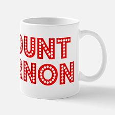 Retro Mount Vernon (Red) Mug