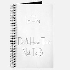 I'm Fine Journal