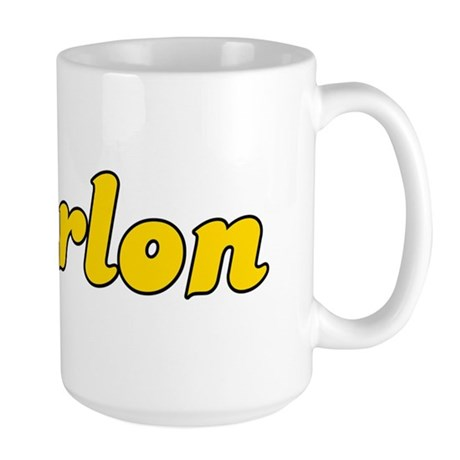 Retro Marlon (Gold) Large Mug
