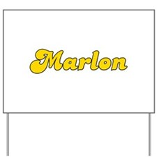 Retro Marlon (Gold) Yard Sign