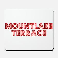 Retro Mountlake Te.. (Red) Mousepad