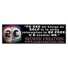 2C BE FREE quote Bumper Bumper Sticker