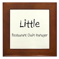 Little Restaurant Chain Manager Framed Tile