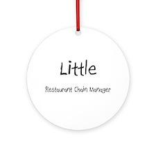 Little Restaurant Chain Manager Ornament (Round)