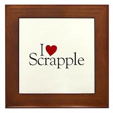 I Love Scrapple (new) Framed Tile