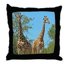 Pair of Giraffes Throw Pillow