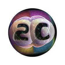 """2C Spore Logo 3.5"""" Button"""