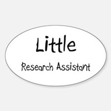 Little Research Assistant Oval Decal