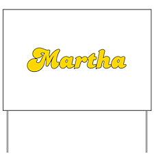 Retro Martha (Gold) Yard Sign