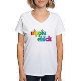 Hippie Womens V-Neck T-shirts