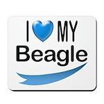 I Love My Beagle Mousepad