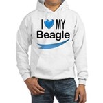 I Love My Beagle Hooded Sweatshirt