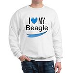 I Love My Beagle Sweatshirt