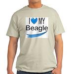I Love My Beagle Ash Grey T-Shirt