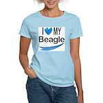 I Love My Beagle Women's Pink T-Shirt