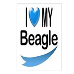 I Love My Beagle Postcards (Package of 8)