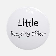 Little Recycling Officer Ornament (Round)