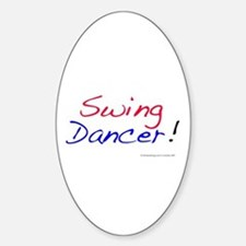 All Swing Dances Oval Decal