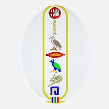 Hieroglyphics Oval Ornament