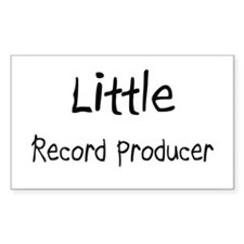 Little Record Producer Rectangle Decal