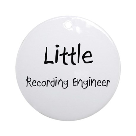 Little Recording Engineer Ornament (Round)
