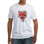 Heart Taxi Driver Fitted T-Shirt