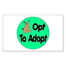 Opt to Adopt Doggie Rectangle Sticker 10 pk)