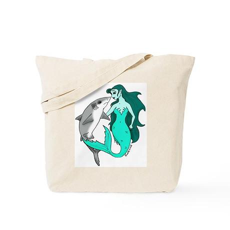 Mermaid and Shark Tote Bag